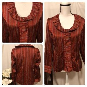 💼 Talbots silk and cotton blouse size 8